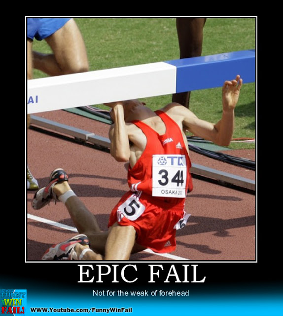 Olympic Epic Fail - Not for the weak of forehead