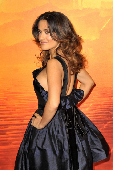 Salma Hayek Black Dress Photoshoot