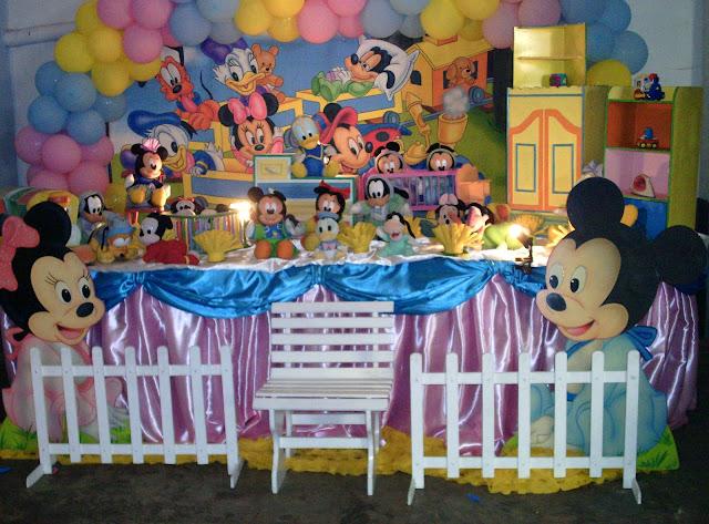 festa infantil - decoração Baby Disney