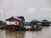 Tonle Sap lake boats