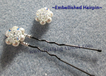 Embellished_hairpins_with_wheel_stitch_pattern