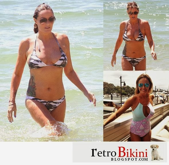 English:Charlotte Dawson Animal Bikini Sydney January‭ ‬28,‭ ‬2014‭