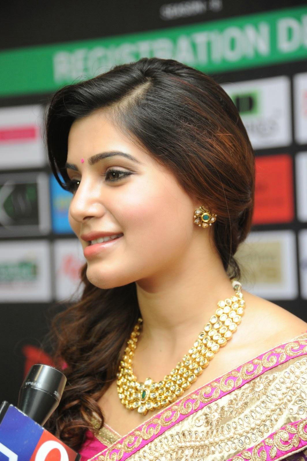 Samantha gorgeous photos in saree-HQ-Photo-6