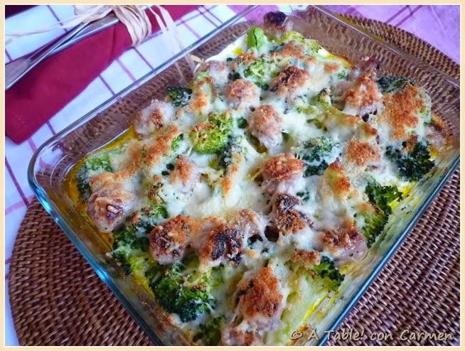 Grupo de recetas solidarias gratinado de brocoli con - Gratinado de patata ...
