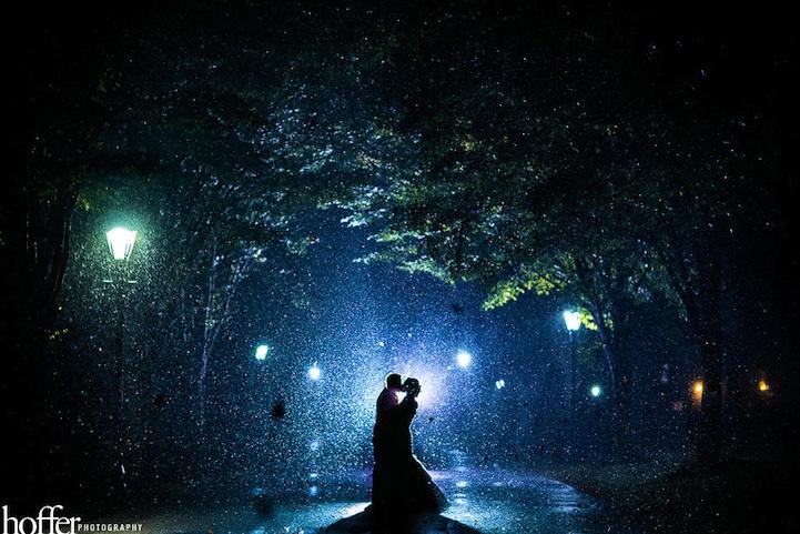 Belas fotografias de casamento em dias de chuva