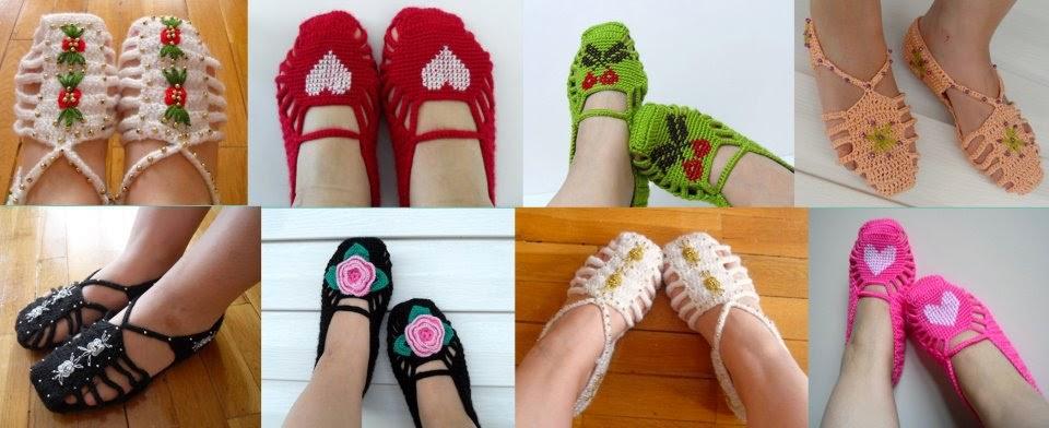 Calcetas , botines y zapatillas.   Crochet desde El Tabo.
