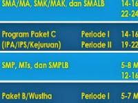 Jadwal Unjian Nasional 2014 untuk SMP dan SMA Se-Derajat
