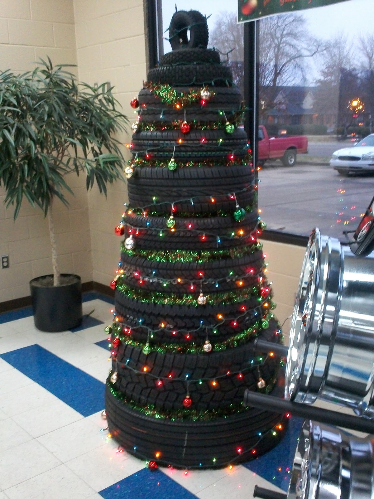 Art with mr e tire art for Tire decoration ideas