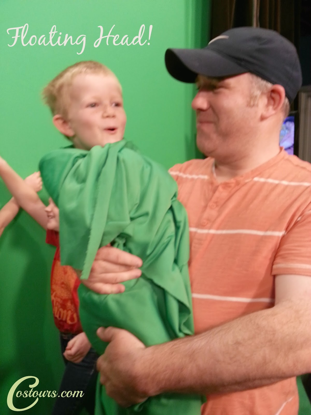 Fun with the green screen on a tour of the news statoin