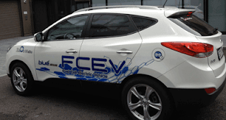 Hyundai prototype ix35 SUV hydrogen fuel cell car