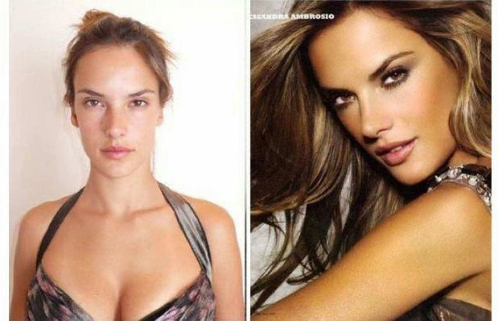 Фото с макияжем и без моделей виктории сикрет
