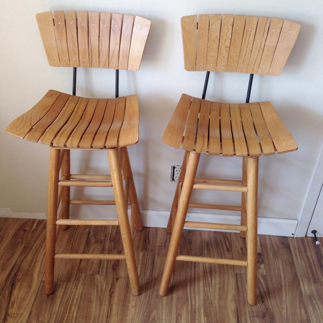 #thriftscorethursday Week 75 | Instagram user: brightgreendoor shows off this Wooden Stools