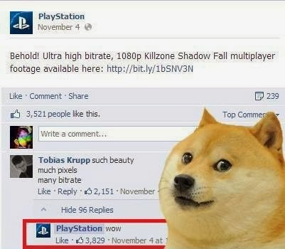 Playstation doge meme trolled you on facebook dr heckle funny wtf memes Wtf Meme Face