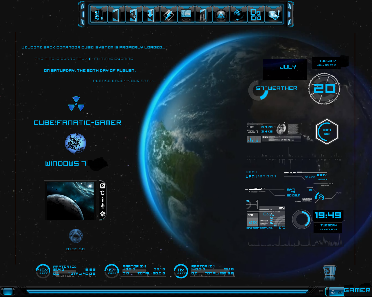 Download blue planet for windows 7 free everything hd for Bureau windows 7 rainmeter