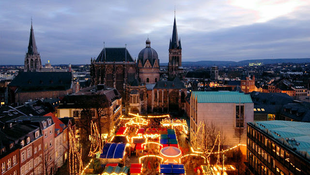 The Aachen market is a relative newcomer to the Christkindlmarkt scene and didn't open until 1973. Photo: Courtesy of German Christmas Market.Org.UK. Unauthorized use is prohibited.