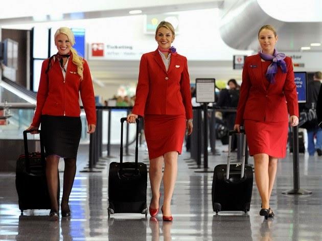 virgin atlantic hostes, virgin atlantic hostesleri, kırmızılı kadın, havayolu hostesleri