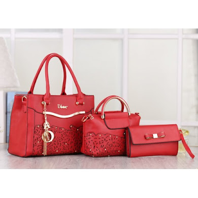 DIOR DESIGNER BAG - RED