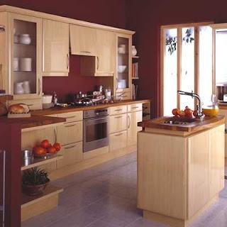 Modele conception cuisine en bois naturel