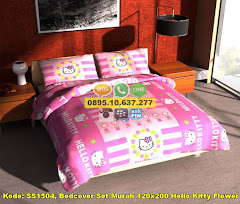 Harga Bedcover Set Murah 120×200 Hello Kitty Flower Jual