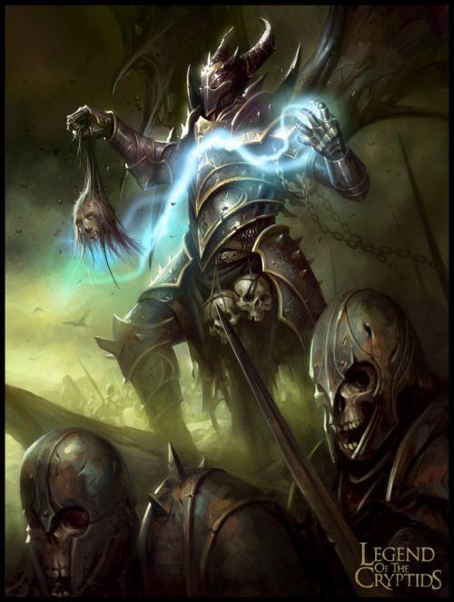 mike lim daarken ilustrações fantasia medieval violência batalhas monstros arte conceitual video games Demônio guerreiro colecionador de cabeças
