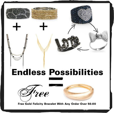 free gift with $50 or more order of any jewelry or accessory