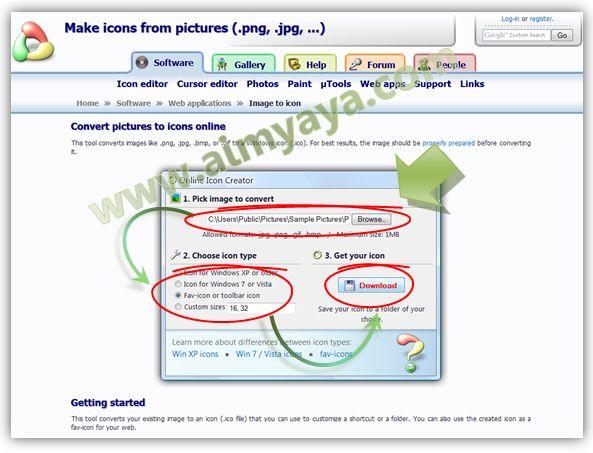 Gambar: Cara Merubah/konversi gambar JPG/PNG/GIF/BMP menjadi icon (ICO) secara online