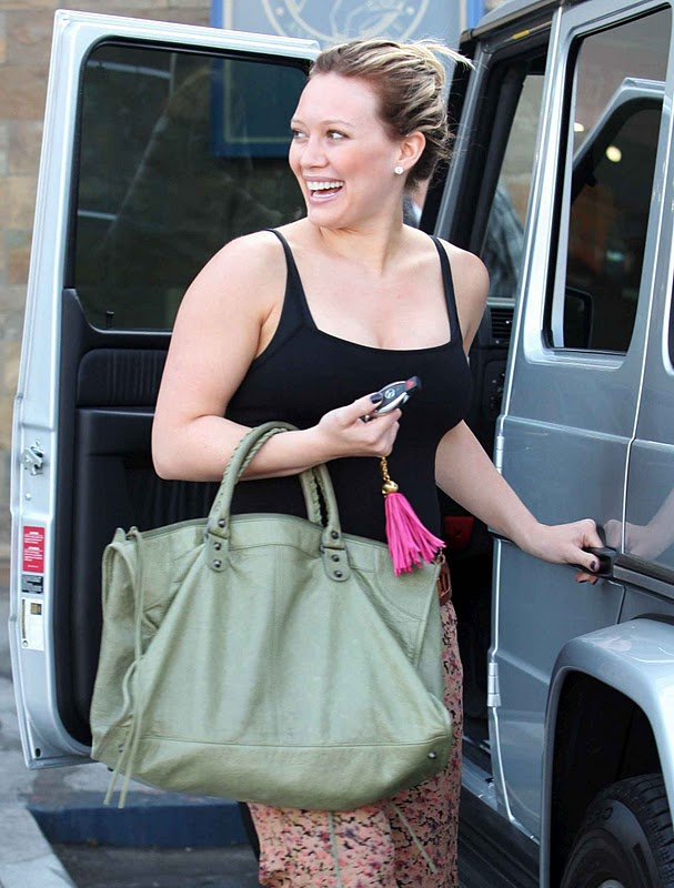 Hilary Duff – Black Tank Top in Hollywood