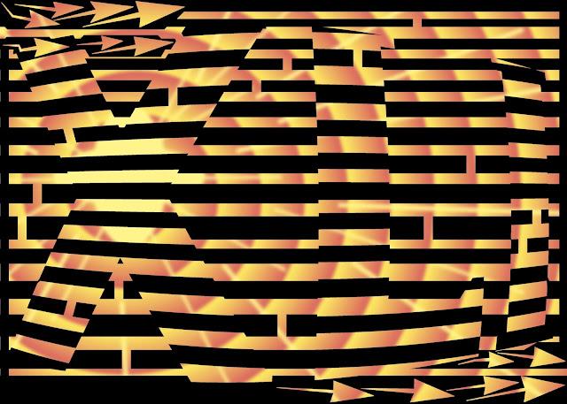 Maze of roman numerals XLI (41)