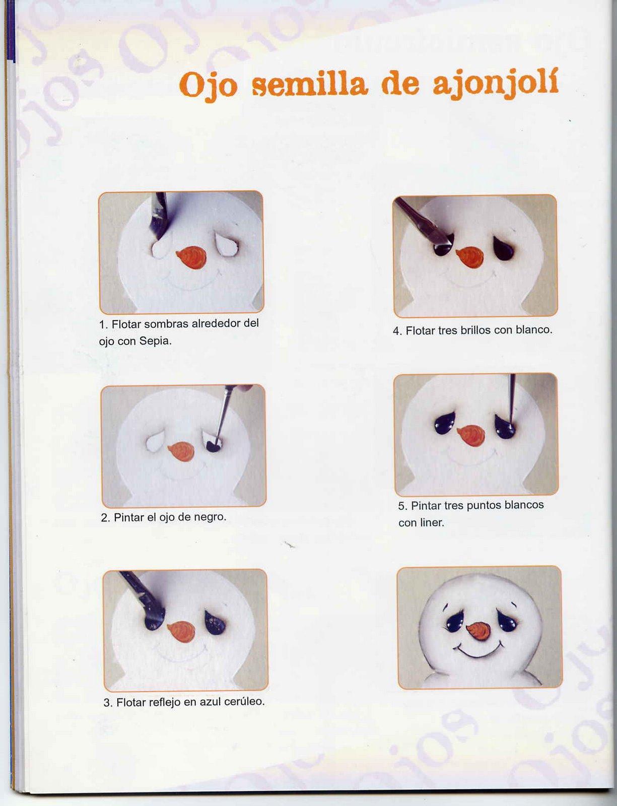 Dibujos y Plantillas para imprimir: Como pintar ojos Muneco de Nieve