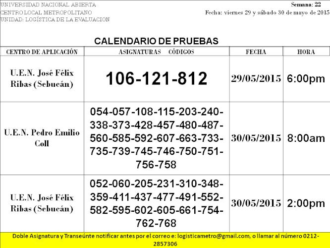 CENTRO DE PRESENTACIÓN EN CARACAS. VIERNES 29 y SÁBADO 30 DE MAYO DE 2015