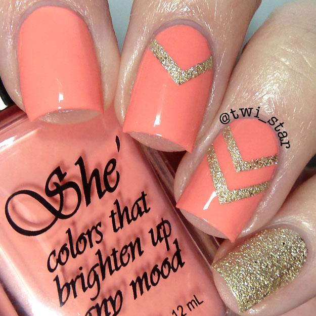 twi-star | Nail Art Blog: She Nail Polish - Harlem chevron nail art