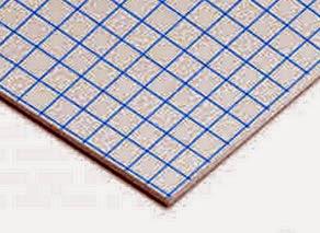Carton pluma Kraft Adhesivo en blanco