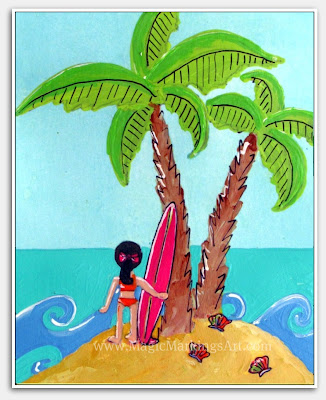 MagicMarkingsArt an artful blog about color and whimsy: Beach