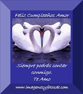 Tarjeta de Cumpleaños Romantica con Cisnes