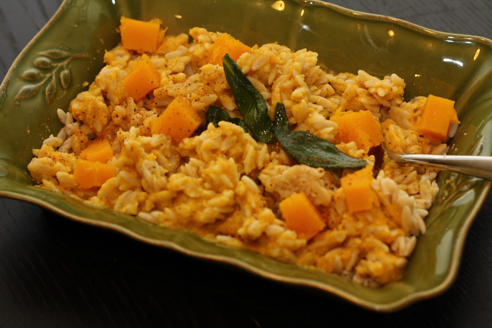 Veg Recipes: Butternut Squash Orzo with Sage Brown Butter