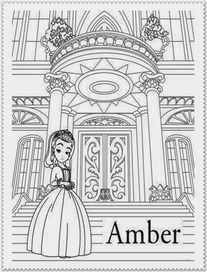 sofia the first coloring pages amber
