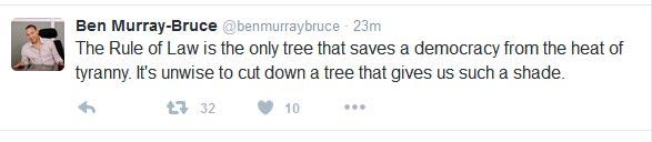 Did Senator Ben Muray-Bruce Call Buhari A Tyrant On Twitter? See Screenshots
