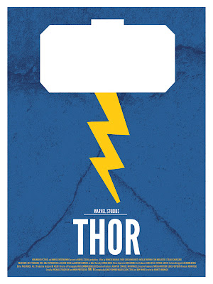 Marvel Movie Poster Series by DaveWill - Thor Print