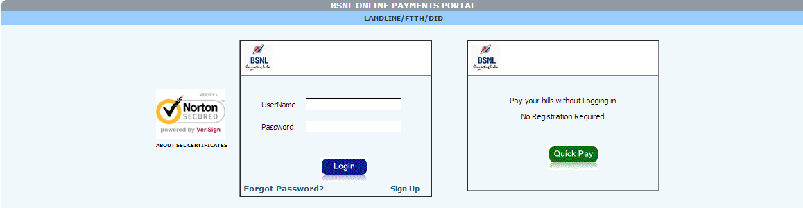 BSNL Online Mobile Payment