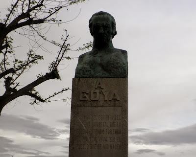 Busto de Francisco de Goya en Fuendetodos