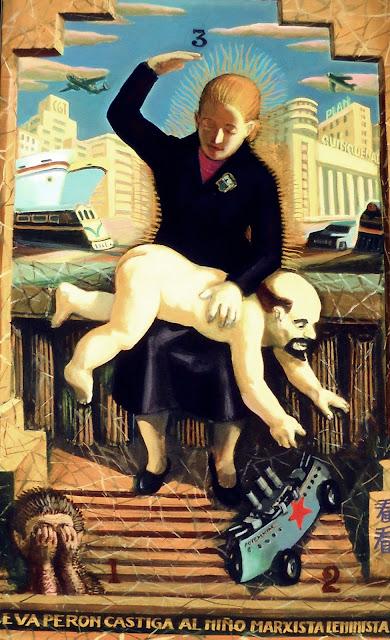 Eva Perón castiga al niño marxista leninista