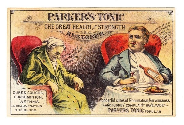 Parker's tonic patent medicine, the non-intoxicating stimulant