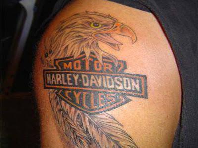 Tattoo designs harley davidson tattoo for Free harley davidson tattoo designs