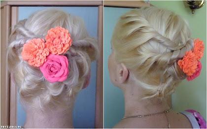 Fryzura na średniej długości włosach - zdjęcie