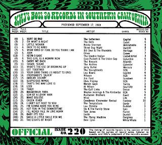 KHJ Boss 30 No. 220 - September 17, 1969