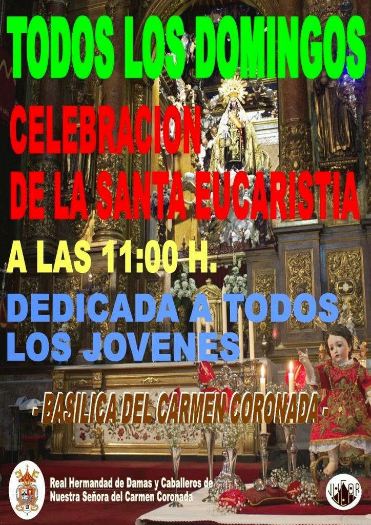 Misa de Jóvenes en la Basílica del Carmen