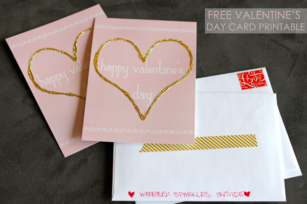 free valentine's day card printable