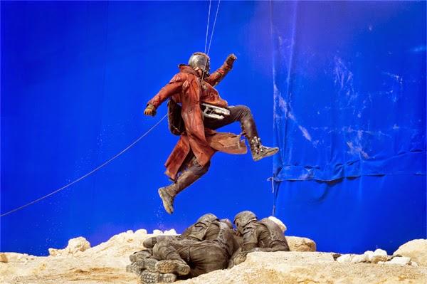 "Foto Rodaje Christ Patt / Peter Quill / Star-Lord en ""Guardianes de la Galaxia"""