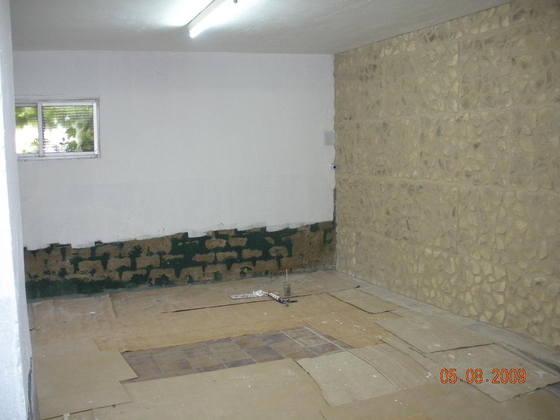 Pintura parquet pladur y madera - Imitacion piedra pared ...