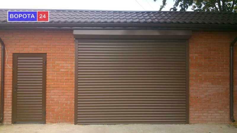 рулонные ворота для гаража фото
